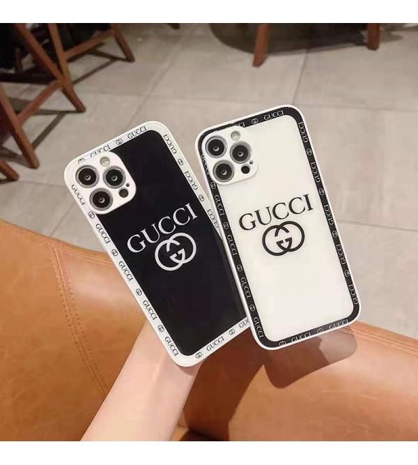Chanel シャネル ハイブランド iPhone 13 mini/13 pro/13 pro maxケース 背面ガラス型 グッチ/GUCCI インスタ風 ルイヴィトン/LV ジャケット型 黒白色 モノグラム柄 シンプル 耐衝撃 アイフォン13/13プロ/12/11/xr/xs/8/7カバー メンズ レディース