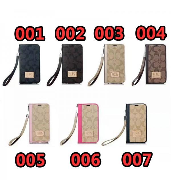 COACH iphone xr/11/11pro maxケースアイフォンxs/xs マックスケース 革製 iPhone8/7 plusカバー 手帳型 galaxy s20/note10/s9 plusケース ストラップ付き Galaxy s8/S7edge SC-02H/SCV33 ビジネス 男女向け