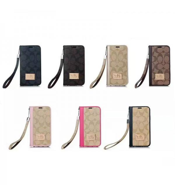 COACH iphone xr/11/11pro maxケースiphone 12ケースアイフォンxs/xs マックスケース 革製 iPhone8/7 plusカバー 手帳型 galaxy s20/note10/s9 plusケース ストラップ付き Galaxy s8/S7edge SC-02H/SCV33 ビジネス 男女向け