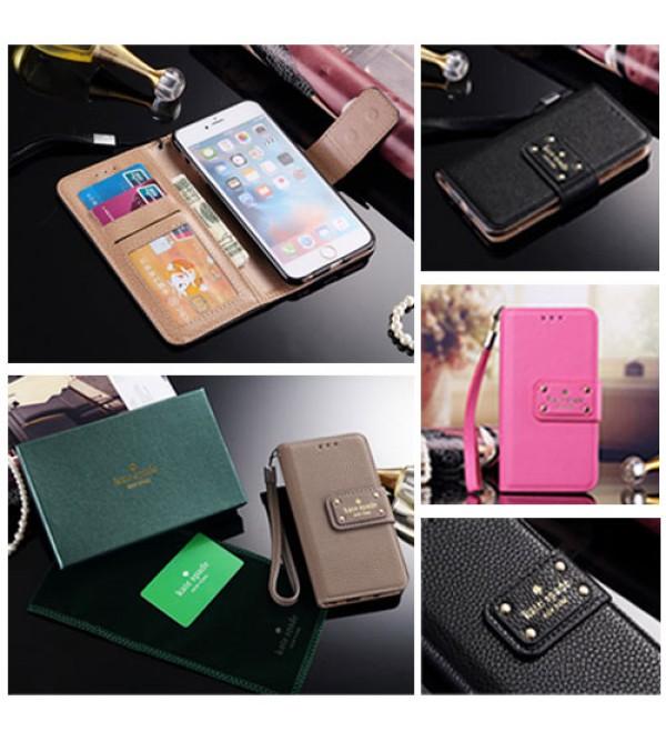 手帳型 iphone xr/xs/xs maxケースGalaxy S9plus(SC-03K/SCV39) ケイトスペードiphone8/7/6ケース ストラップ付き 男女向け