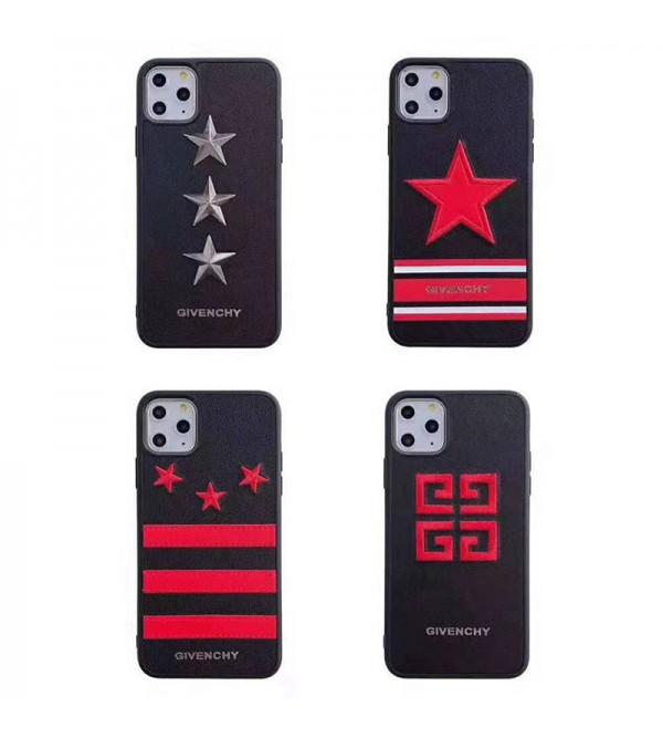 iPhone xr/xs max/xs/11/11pro max/12/12 mini/12 pro/12 pro maxカバー GIVENCHY ジバンシー iphone x/8/7 plusケース iphone6/6 plusカバー カップル ペア  スターロゴ付き かっこいい