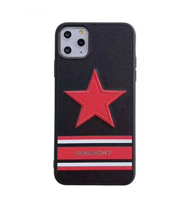 iPhone xr/xs max/xs/11/11pro maxカバー GIVENCHY ジバンシー iphone x/8/7 plusケース iphone6/6 plusカバー カップル ペア  スターロゴ付き かっこいい