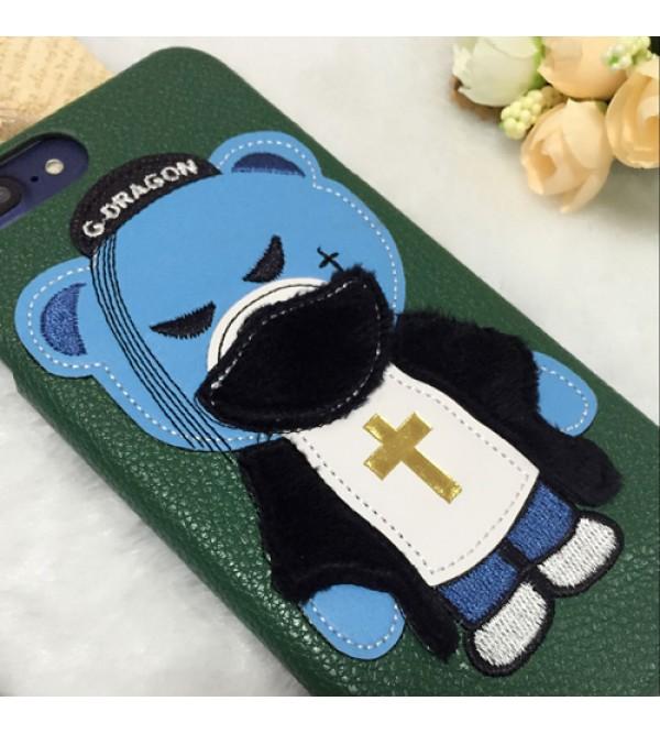 ドルチェ&ガッバーナ iPhone7プラスカバー ジャケット アイフォン6/6s plusケース D&G アイフォン7/6/6s GD熊柄 人気商品