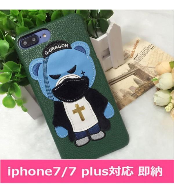 iPhone12 ケースドルチェ&ガッバーナ iPhone7プラスカバー ジャケット アイフォン6/6s plusケース D&G アイフォン7/6/6s GD熊柄 人気商品