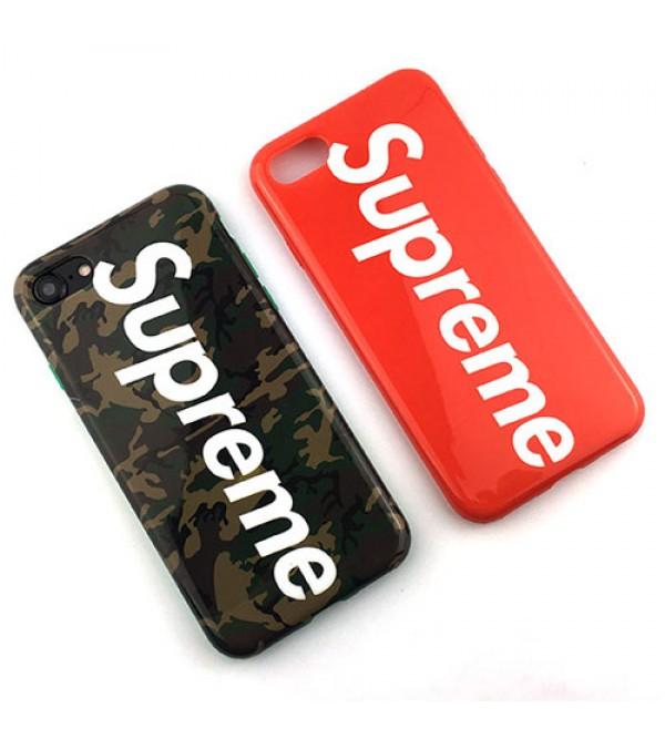 シュプリーム iPhone8/7 plusカバー ブランド iPhone8カバー アイフォン6/6s plusケース Supreme iPhone7/6/6s ジャケット アイフォンSE/5/5sカバー カップル アイフォンシリーズケース