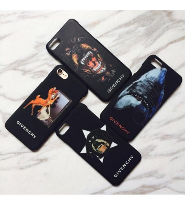 ジバンシー iPhonexr/xs/xs max/11r/11 proケース iPhone7 plusケース サメ柄 GIVENCHY アイフォン8/8 plusカバー ジャケット スクラブ  犬柄 iPhone7/6/6s ブランド かっこいい