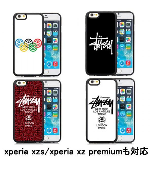 Stussy iphone 12 ケースアイフォンxsマックスケース iphone xr/xs/11 proカバー xperia xz premium/xzsブランドケース SO-03J/SOV35 SO-04J エクスぺリア XZ/X Compact ジャケット Galaxy S7//S8/S6edge ペア ステューシー Xperia X performance 高品質