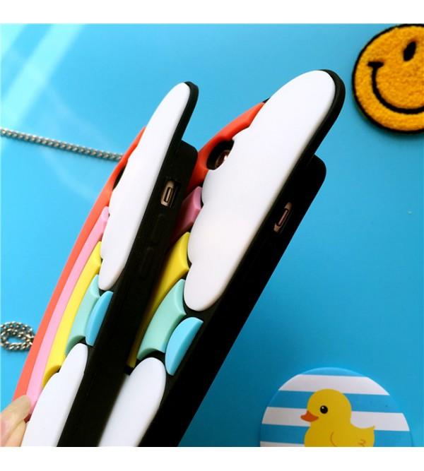 Valfre アイフォン8/8 plusケース 虹 iPhone7 plusカバー  ヴァルフェー 白雲 iPhone7 可愛い ブランド iPhone6/6sケース シリコン製