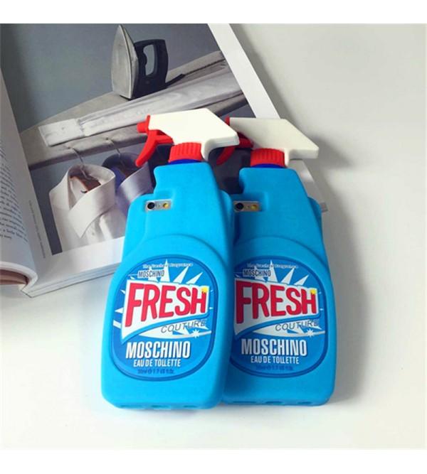 芸能人愛用 iPhone7 plusカバー モスキーノ 洗剤 iPhone8/8 plusケース 個性的 MOSCHINO アイフォン6/6sカバー シリコン製 iPhone7ケース