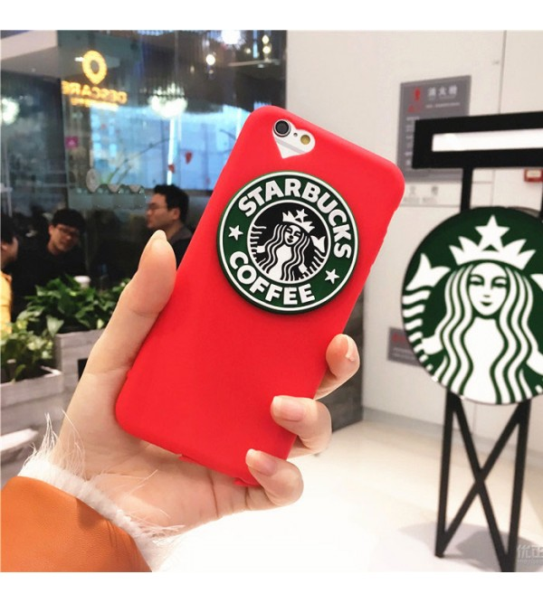 STARBUCKS アイフォン8/7 plusケース ブランド カップル iPhone6/6s plusカバー スターバックス ジャケット 赤 アイフォン7ケース