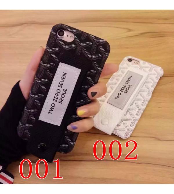 iphone 12 ケースゴヤール iPhone8カバー  ジャケット iPhone8/7 plusケース GOYARD ベルト付き アイフォン7/6/6sカバーペア 高品質