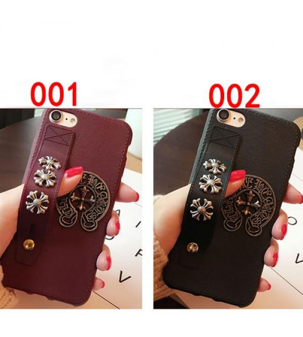 iphone8/se2ケース クロムハーツ アイフォン7/7プラスカバー ジャケット chrome hearts ブランド iphone6/6s plus iphone6/6sケース ハンドベルト付き カッコイイ