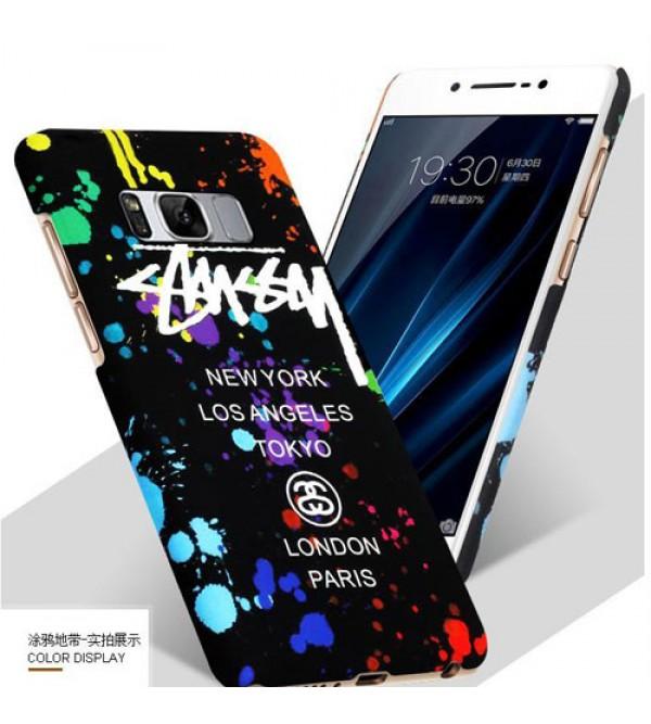 iphone 12 ケース若者向け ステューシー Galaxy S8 SC-02/SCV36ケースカバー ブランド ギャラクシー S8+ SC-03J/SCV35ジャケットカバー カッコイイ ギャラクシー エス8ケース ペア ファッション
