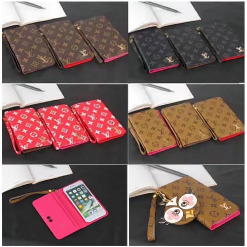ブランド ルイヴィトン galaxy S10 ケース iphoneXカバー iPhone8/8plusケース ギャラクシーS8+ SC-03J/SCV35ケース モノグラム Galaxy S8 SC-02J/SCV36手帳型カバー ストラップ付き 革製 アイフォン7/7プラススマホケース 男女向け シュプリーム
