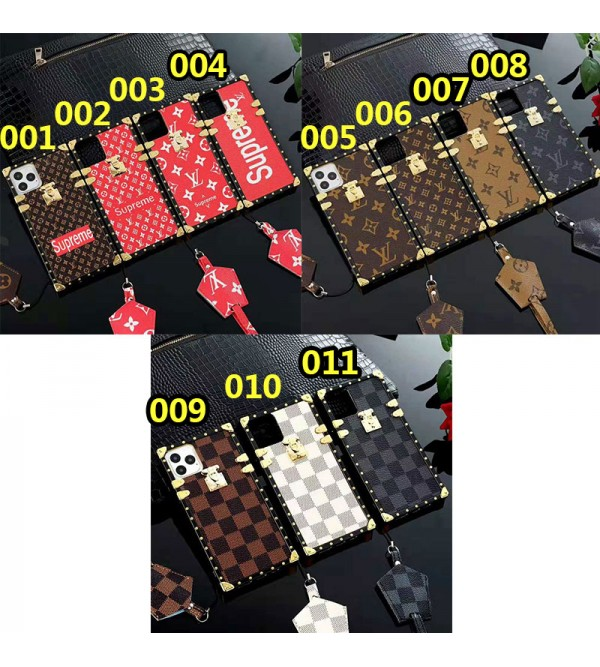 iphone 12 mini/12 pro/12 max/12 pro maxケースシュプリーム iphone iPhone 11/11pro/xr/xs max/xsケース ルイヴィトン iphone x/8/7ケースオシャレモノグラムアイフォン6s plusケースファッションTPU製 ストラップ付き男女兼用