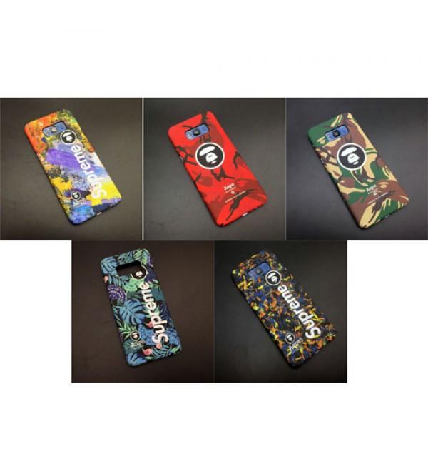 シュプリーム aape galaxy S8/S8plus ジャケット携帯ケース ファンションiphone8/8plusケース supreme iphone7カバー 個性的 男女兼用