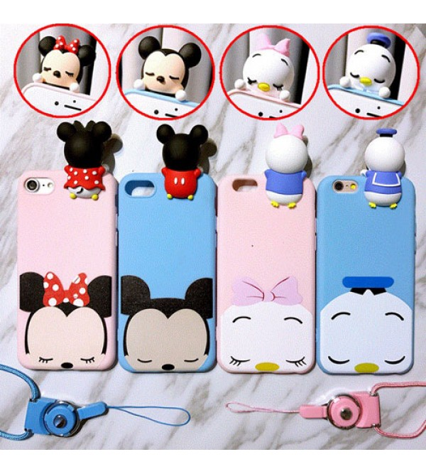 Disney風 Mickey Iphone8/8plusケース ジャケット Iphone7/7plusカバー 可愛いスマホケース pink+sky blue ディズニー