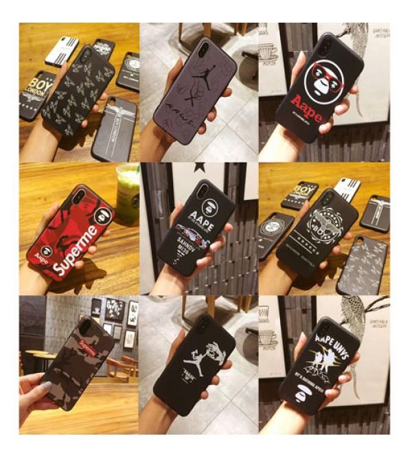 iphone 12 ケースタイド ブランド シュプリーム iphoneX/8/8plusケース ジャケット ジョーダン エーエイプ iphone7カバー 男性 女性 ファッション iphone6s/6splusケース
