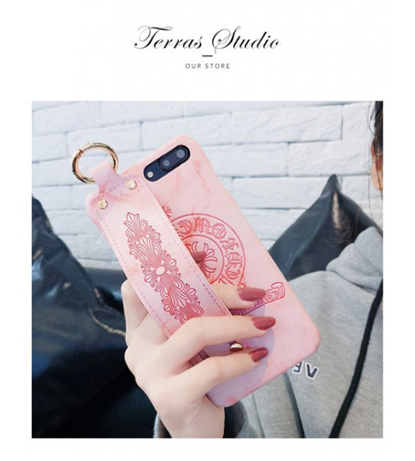 IphoneXケース クロムハーツ Iphone8/7 Iphone8plus/7plus カバー ジャケット Chrome Hearts ブランド Iphone6/6s Plus Iphone6/6sケース ハンドベルト付き カッコイイ
