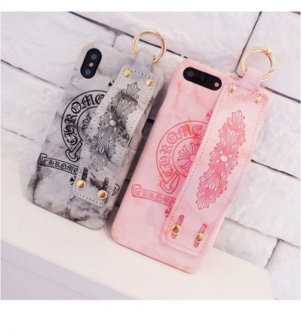 IphoneXケース iphone 12 ケースクロムハーツ Iphone se2/8/7 Iphone8plus/7plus カバー ジャケット Chrome Hearts ブランド Iphone6/6s Plus Iphone6/6sケース ハンドベルト付き カッコイイ