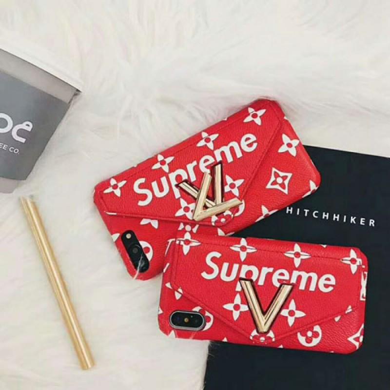 IphoneXケース supreme Iphone8/7 Iphone8plus/7plus カバー ブランドルイヴィトン Iphone6/6s Plus Iphone6/6sケース 封筒デザイン