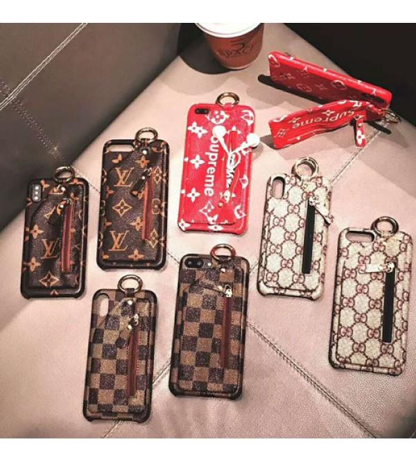 グッチ Iphone xr/xs max/xsケース supreme Iphonex/8/7カバー ブランドルイヴィトン Iphone6/6s Plusケース ポケット付き