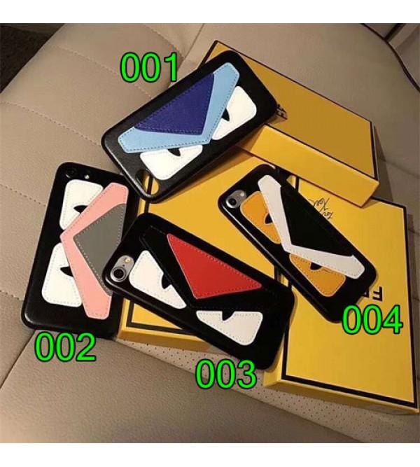 Fendiフェンデイ IphoneX/XS/MAXスマホケース  かわいい怪獣目Iphone8/7 Iphone8plus/7plus カバー Iphone6/6s Plus Iphone6/6sケース ジャケット型