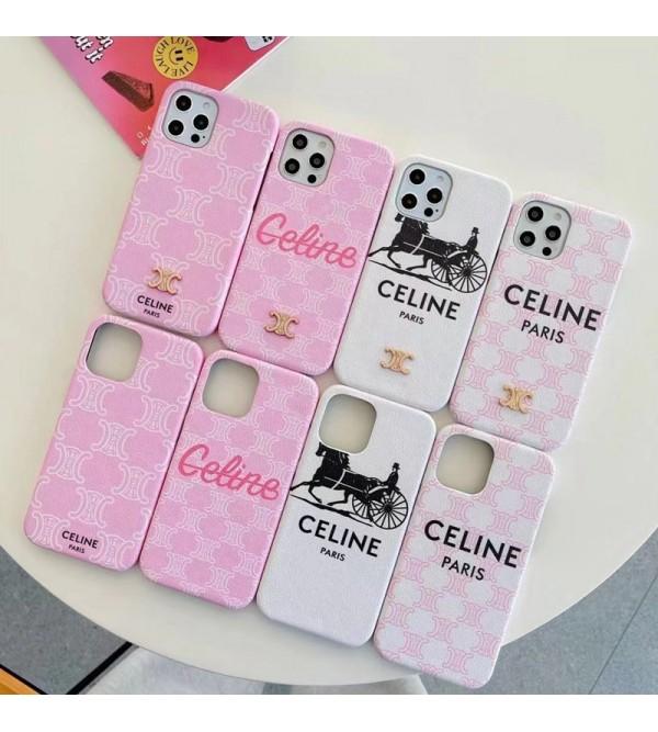 CELINE ブランド iphone 13 pro/13 pro max/13 miniケース 人気 セリーヌ キャリッジ レザー アイフォン13/12 pro max/11/x/8/7カバー コピー メンズ レディーズ