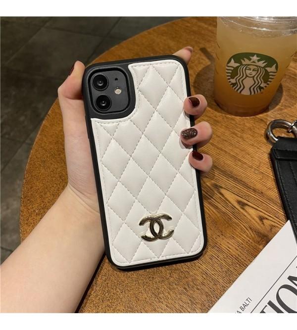 CHANEL シャネル ブランド iphone 13 pro/13 pro max/13 miniケース 可愛い ステッチ 菱形柄 レザー ジャケット型 TPU アイフォン13カバー 安い レディース愛用