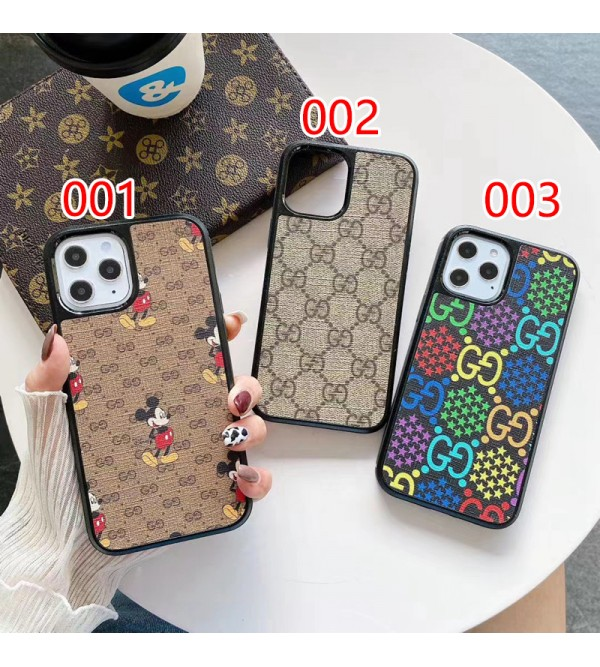Gucci/グッチ&ディズニー ブランド コラボ iphone 13 pro/13 pro max/13 miniケース ジャケット型 モノグラム 落下保護 激安 アイフォン13/13プロ/13ミニ/12/11/x/8/7カバー メンズ レディーズ