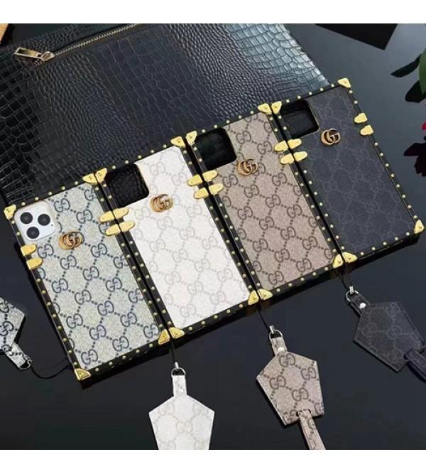 グッチ ブランド GUCCI iphone 13 Pro/13 Pro Max/13 Miniケース お洒落  革製 斜め掛け トランク型 保護 モノグラム アイフォン13/12/11/X/XS/XR/8/7ケース レディーズ