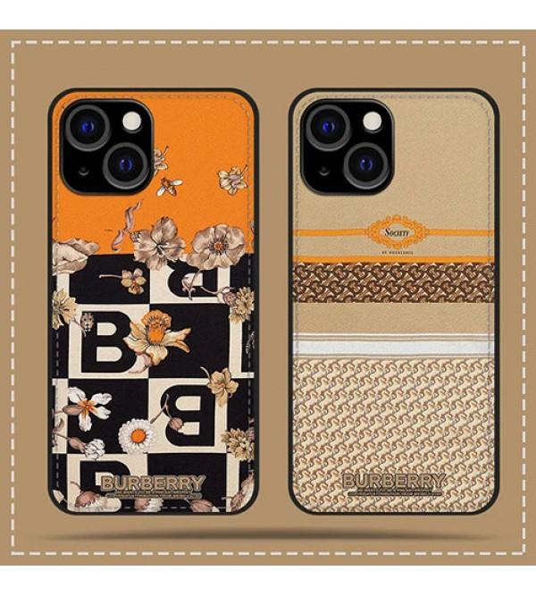 バーバリー ブランド iphone 13pro max/13pro/13 mini/12ケース モノグラム 花 BURBERRY ステッチ 可愛い レザー 安い ジャケット型 アイフォン13/12/11/x/8/7/se2カバー 経典 高級 人気 ファッション メンズ レディーズ