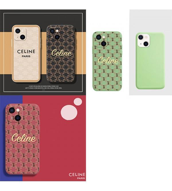 CELINE ブランド iphone13/13 mini/13 pro/13 pro maxケース ins風 セリーヌ モノグラム ジャケット型 アイフォン12/11/x/xs/xr/8/7カバー  四角保護 ファッション 高級 人気 メンズ レディース