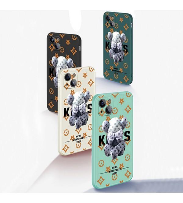 LV/ルイヴィトン カウズ/KAWS: WHAT PARTY コラボ iphone 13/13 pro/13 mini/13 pro maxケース ブランド インスタ風  ジャケット型 モノグラム 熊柄 アイフォン13/12/11/x/8/7/6ケース ファッション セレブ 激安 かわいい メンズ レディーズ