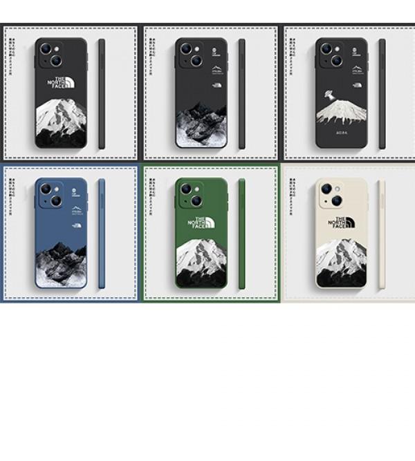 The North Face ブランド iphone13 pro/13 pro max/13 miniケース お洒落 雪山柄 ザ.ノース.フェイス ジャケット型 個性 モノグラム アイフォン13/12/11/x/xr/xsケース 潮流 メンズ レディーズ