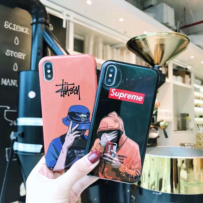 ブランド stussy IPhoneXケース