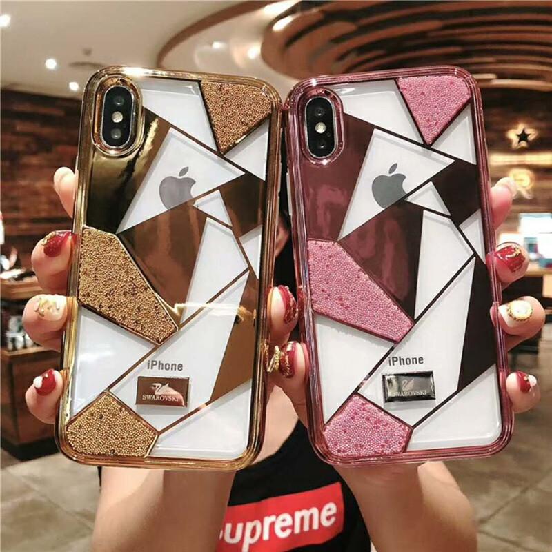iphone xsケース ブランド swarovski