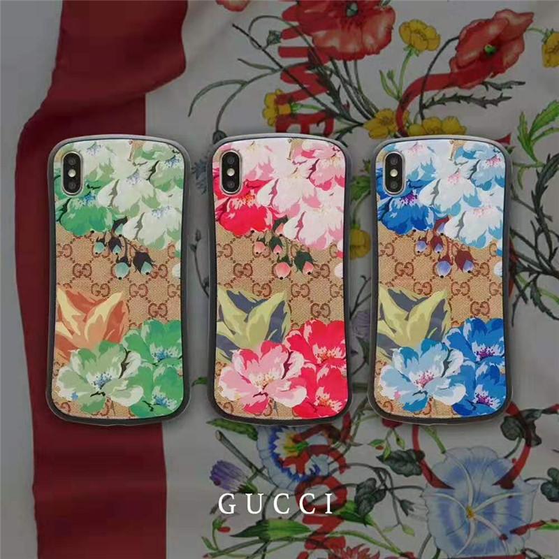 お洒落花柄iphone XI/11 maxケースグッチ