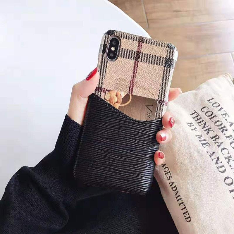 オシャレイギリス風 iphone x/8 plusケース バーバリー