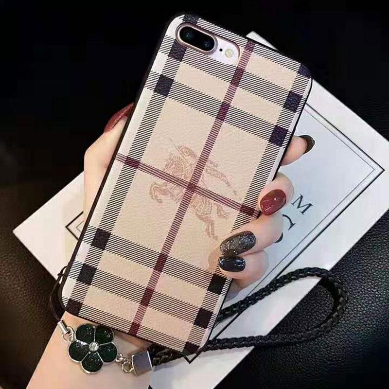 ブランド iphone x/8/7 plusケース バーバリー