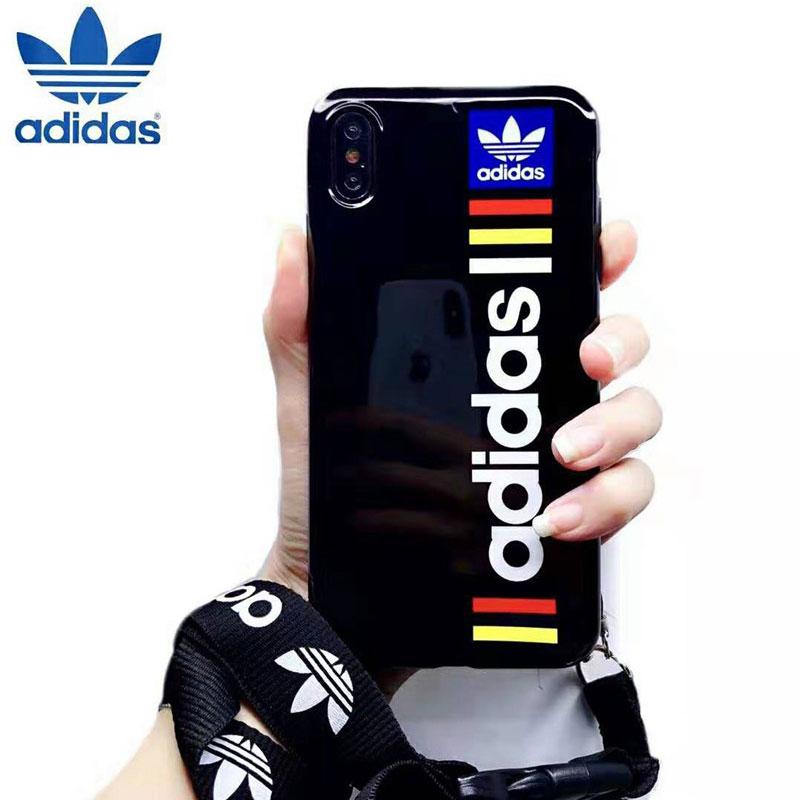 スポーツ風 iphone xr/xs maxケースアディダス