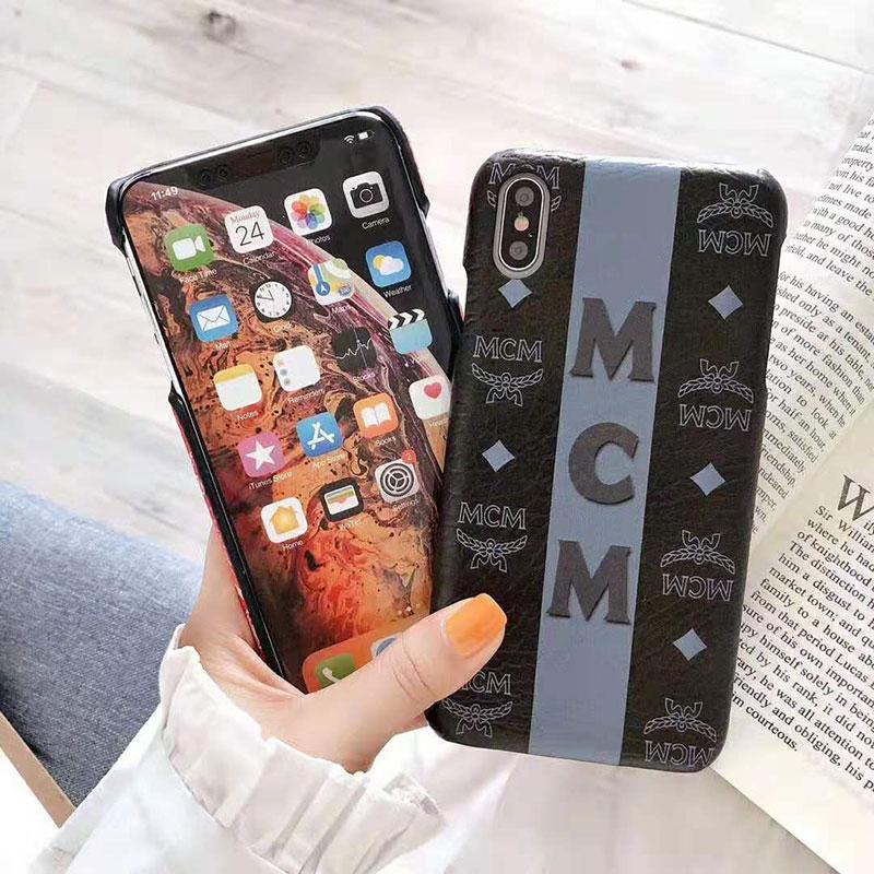 可愛い混色 iphone x/8/7 plusケース エムシーエム