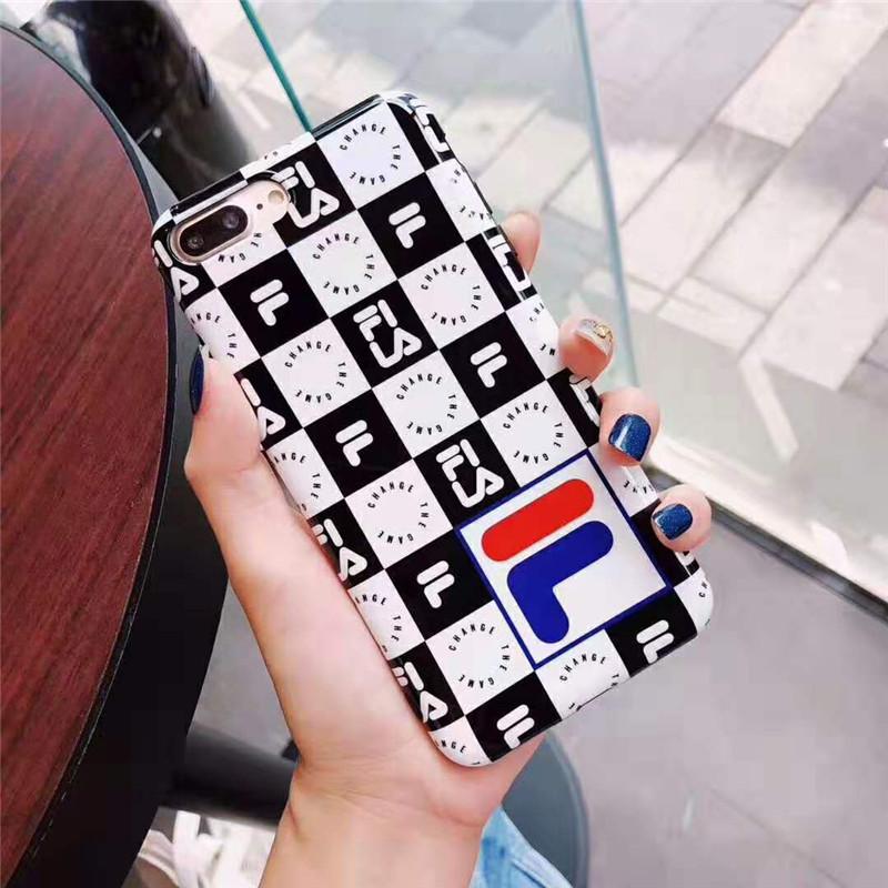 オシャレチェック iphone x/8/7 plusケース FILA