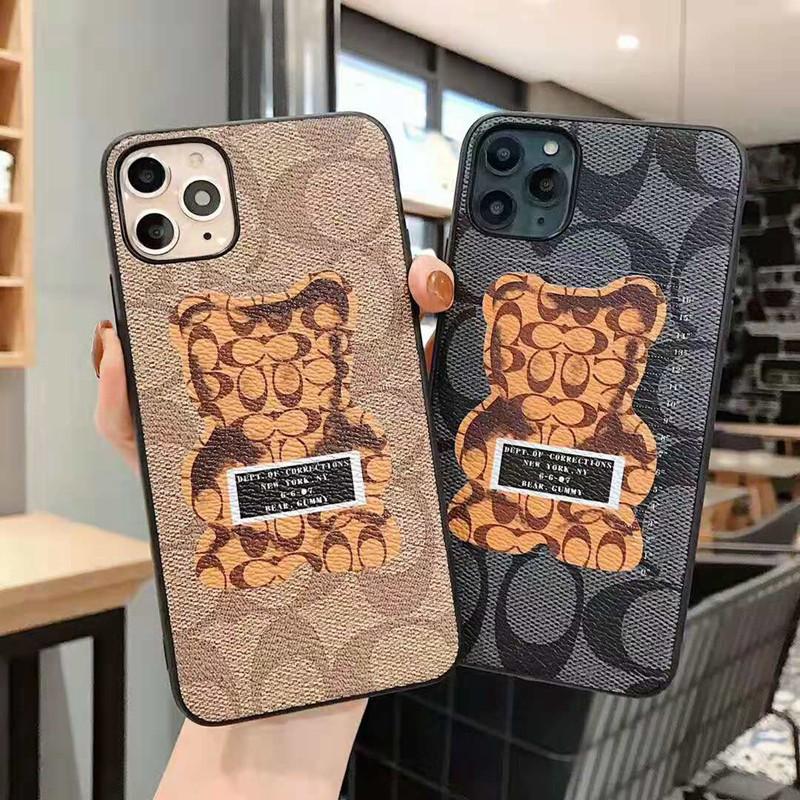 可愛いクマちゃん付き iphone11/11pro maxケース コーチ
