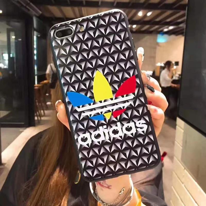 個性お洒落iphone xr/xs maxケースアディダス