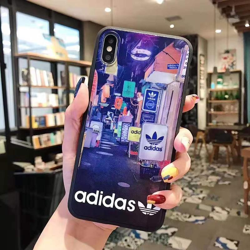 adidas iphone xr/xs maxケース お洒落個性