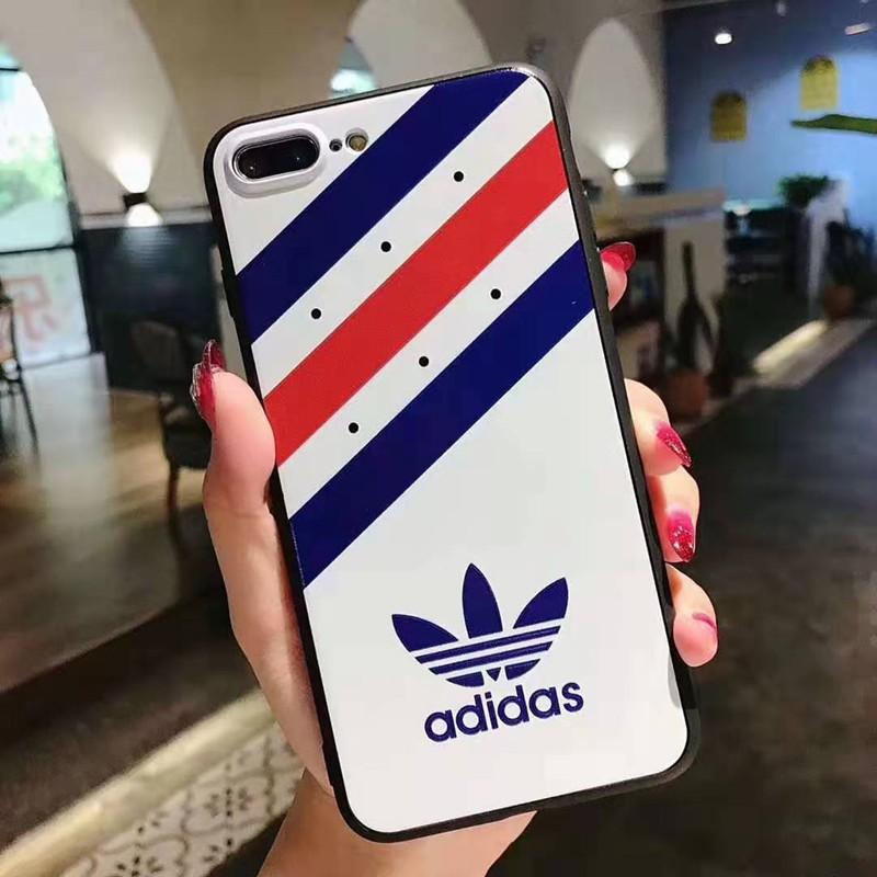 スポーツ風 iphone xr/xs maxケースadidas アディダス