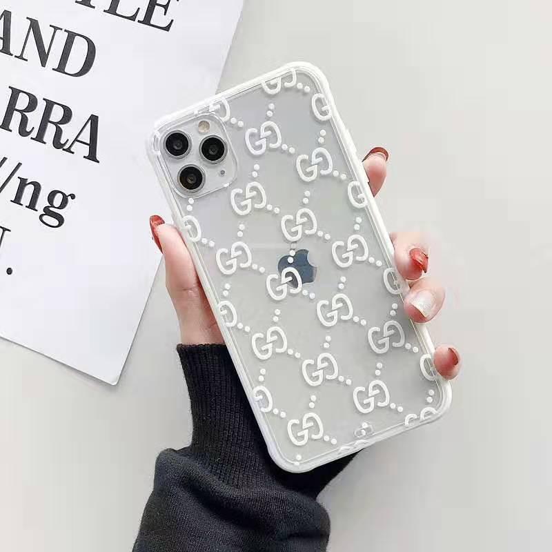 透明 iphone x/8/7 plusケース グッチ