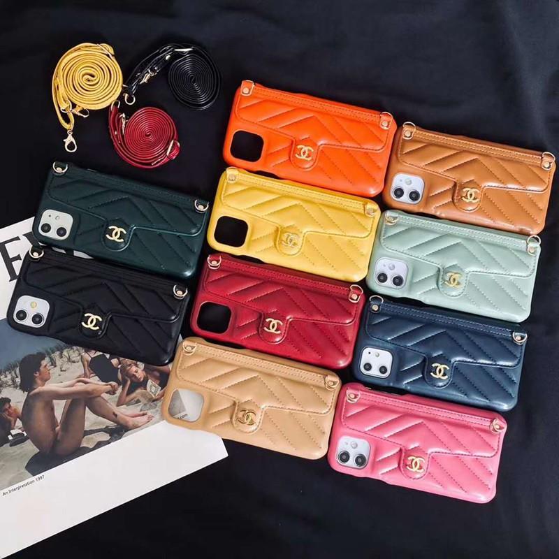 Chanel/シャネルIphone 12ケース ビジネス ストラップ付き