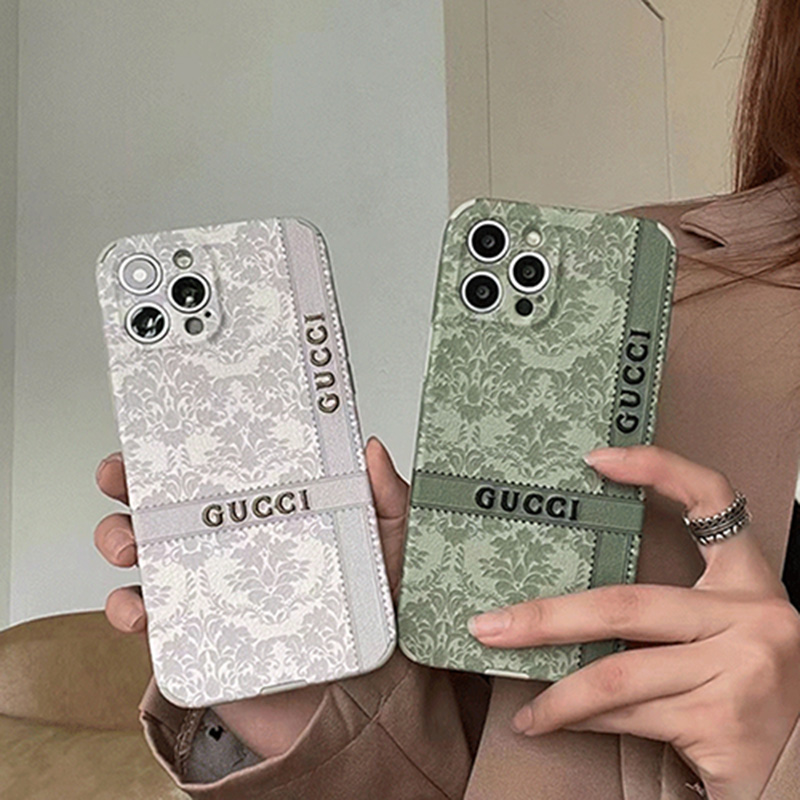 グッチGucciブランドアイフォン13pro max/13miniケース革ジャケット型 モノグラム人気セレブ愛用カバー